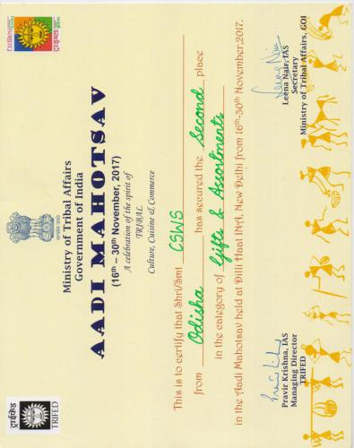TRIFED certificate